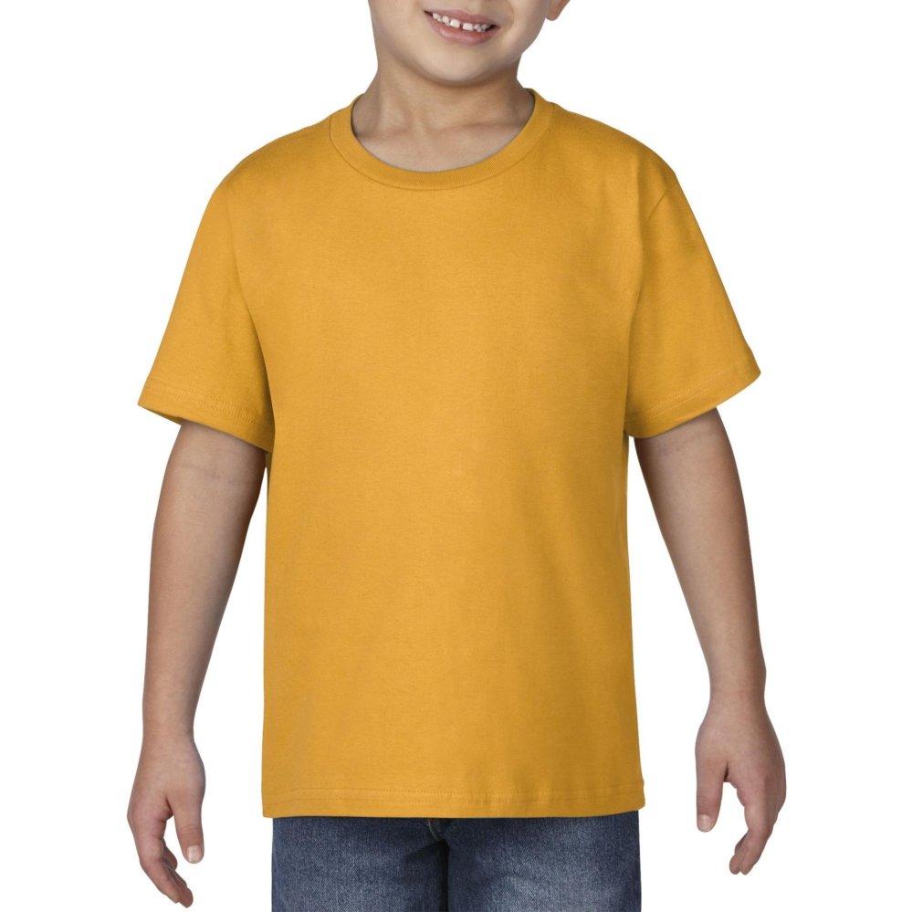 Gildan Youth Premium Cotton 76000B Kaos Polos Original [Gold]